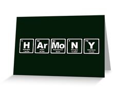 Harmony - Periodic Table Greeting Card