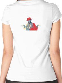 Meh Man 55B AKA Whatever 55B Women's Fitted Scoop T-Shirt