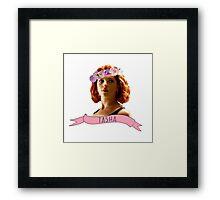 BW - Tasha Framed Print