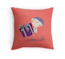 Merry Elf Throw Pillow