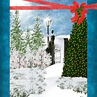 Missing You Christmas Card by Vickie Emms
