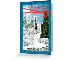 Missing You Christmas Card Greeting Card