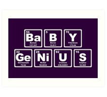 Baby Genius - Periodic Table Art Print