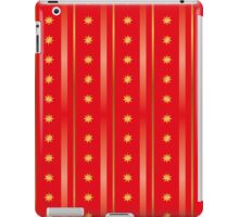 Merry Christmas red and gold background texture iPad Case/Skin