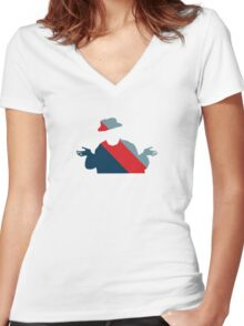 Meh Man SDMEH22 65H AKA Whatever 65H Women's Fitted V-Neck T-Shirt