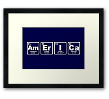 America - Periodic Table Framed Print