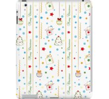Christmas texture with gifts tree balls ribbon iPad Case/Skin