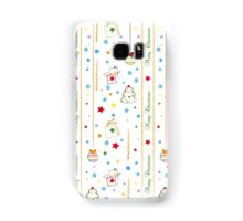 Christmas texture with gifts tree balls ribbon Samsung Galaxy Case/Skin
