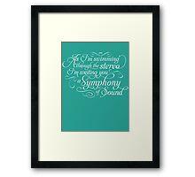 Symphony of Sound Framed Print