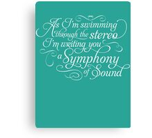 Symphony of Sound Canvas Print