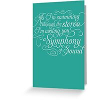 Symphony of Sound Greeting Card