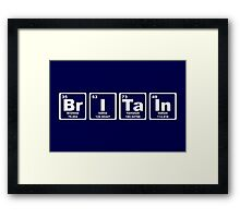 Britain - Periodic Table Framed Print
