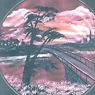 sunset bridge by francelle  huffman