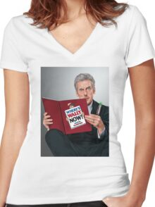 12th Doctor Women's Fitted V-Neck T-Shirt