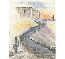 SOUTHWEST STUCCO AND PATH Photographic Print