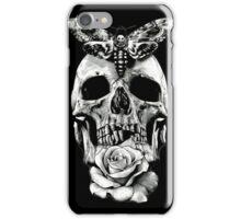 TATTOO - Butterfly on skull iPhone Case/Skin