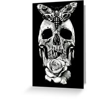 TATTOO - Butterfly on skull Greeting Card