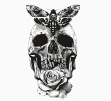 TATTOO - Butterfly on skull Kids Clothes