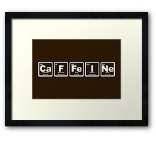 Caffeine - Periodic Table Framed Print