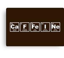 Caffeine - Periodic Table Canvas Print