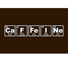 Caffeine - Periodic Table Photographic Print