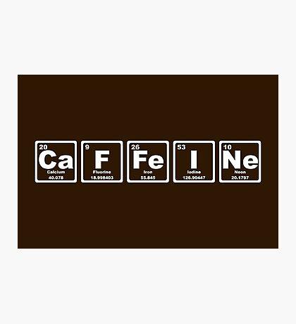 Caffeine - Periodic Table Photographic Print