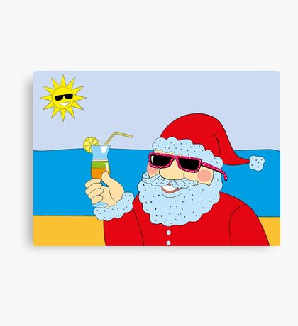 Funny Santa Claus Canvas Print
