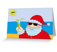 Funny Santa Claus Greeting Card