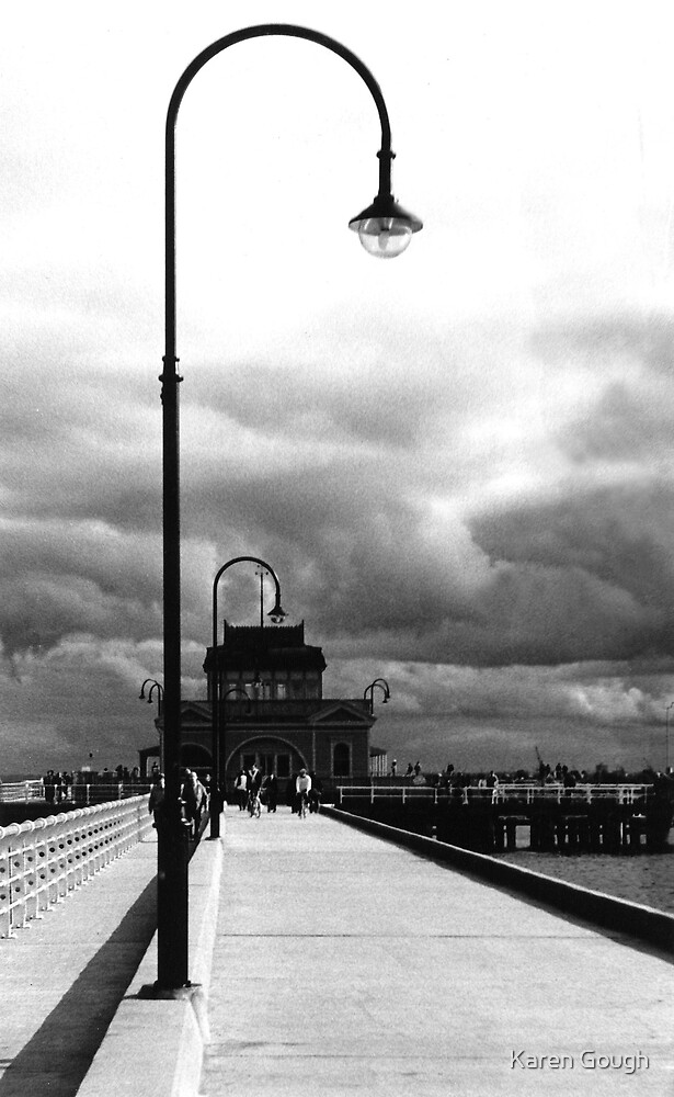 St Kilda pier and kiosk by Karen Gough