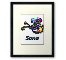 Sona- Arcade Framed Print
