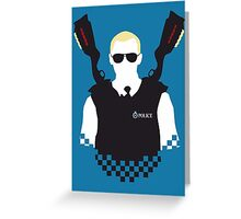 Here Come The Fuzz - Variant Greeting Card