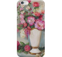 Pink Flowers Oil Painting iPhone Case/Skin