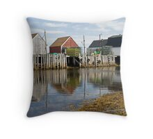 The Blue Rocks Throw Pillow