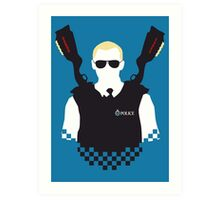 Here Come The Fuzz Art Print