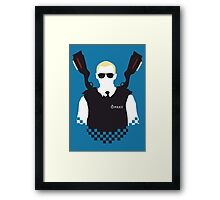 Here Come The Fuzz Framed Print