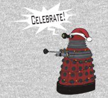 "Festive Dalek -- ""Celebrate!"" by trumanpalmehn"