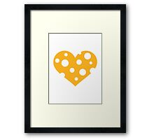 Cheese heart Framed Print