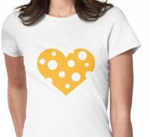 Cheese heart Womens Fitted T-Shirt