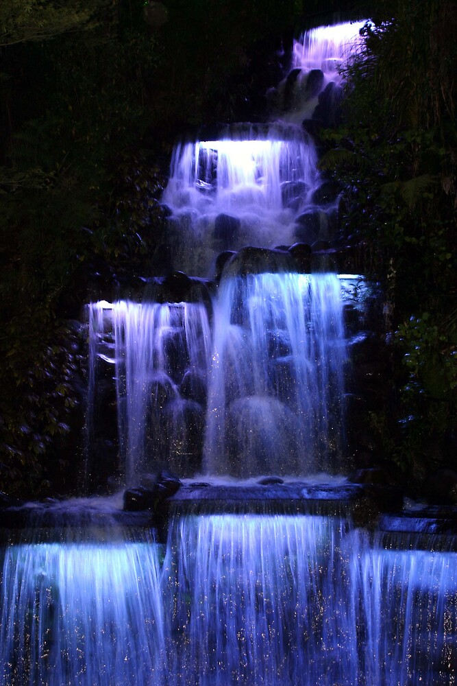 Waterfall at night  by Danielle Kennedy Boyd
