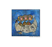 Moon sailing Photographic Print
