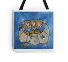 Moon sailing Tote Bag
