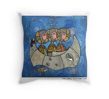 Moon sailing Throw Pillow
