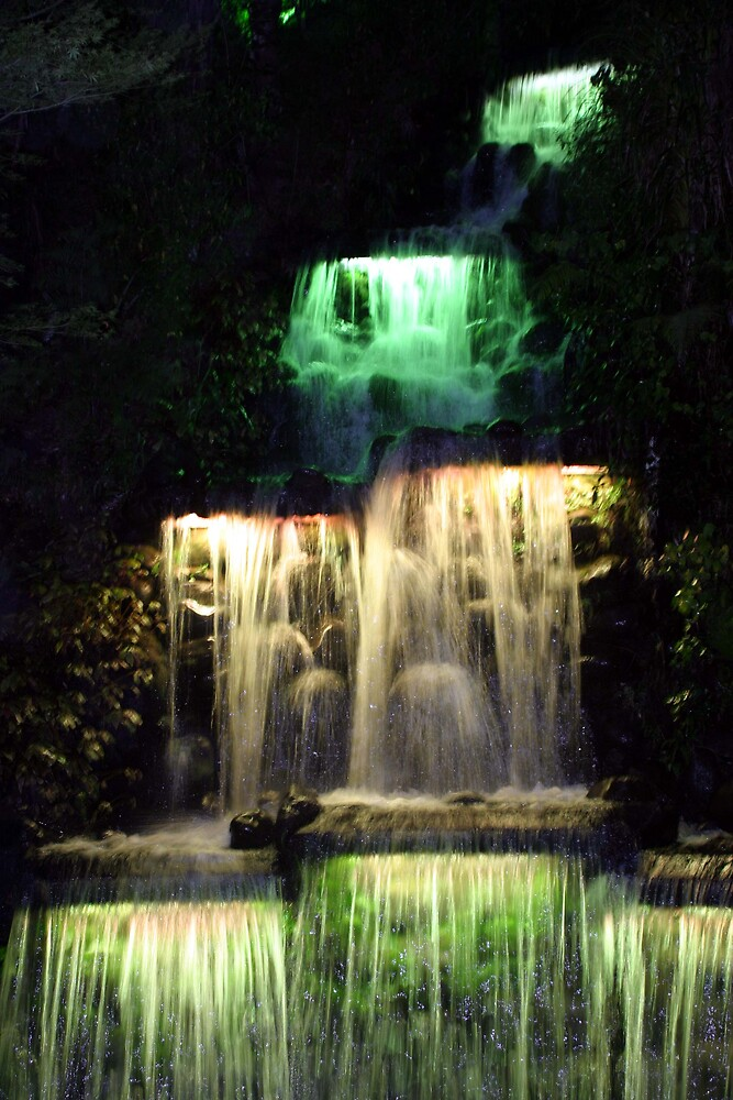 Waterfall at night 2 by Danielle Kennedy Boyd