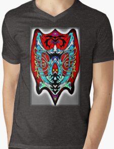 Shield design Mens V-Neck T-Shirt