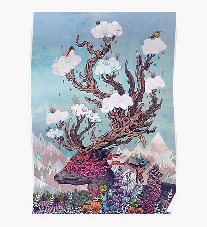Journeying Spirit (deer) Poster