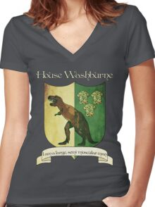 Firefly House Crest - Wash Women's Fitted V-Neck T-Shirt