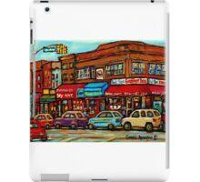 PAINTINGS OF NEW YORK PARK SLOPE CITY SCENES  iPad Case/Skin