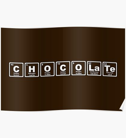 Chocolate - Periodic Table Poster