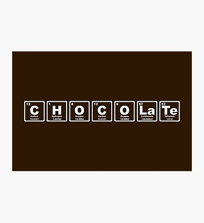 Chocolate - Periodic Table Photographic Print