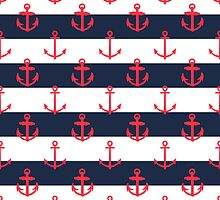 Nautical Anchor Pattern by PatiDesigns